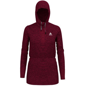 Odlo Irbis Warm Hoody Midlayer Women rumba red-hibiscus